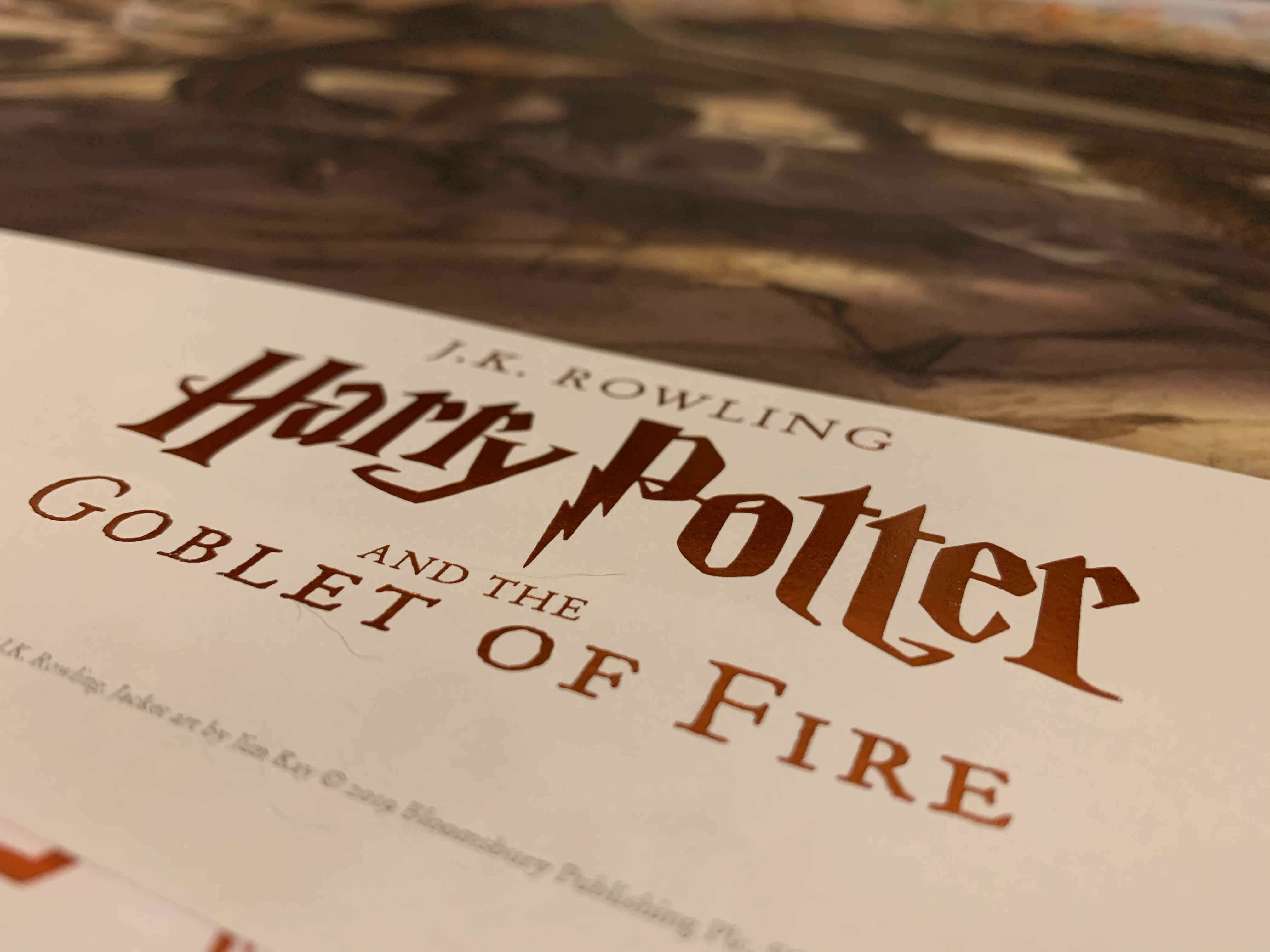"""""""Goblet of Fire"""" poster, close-up"""