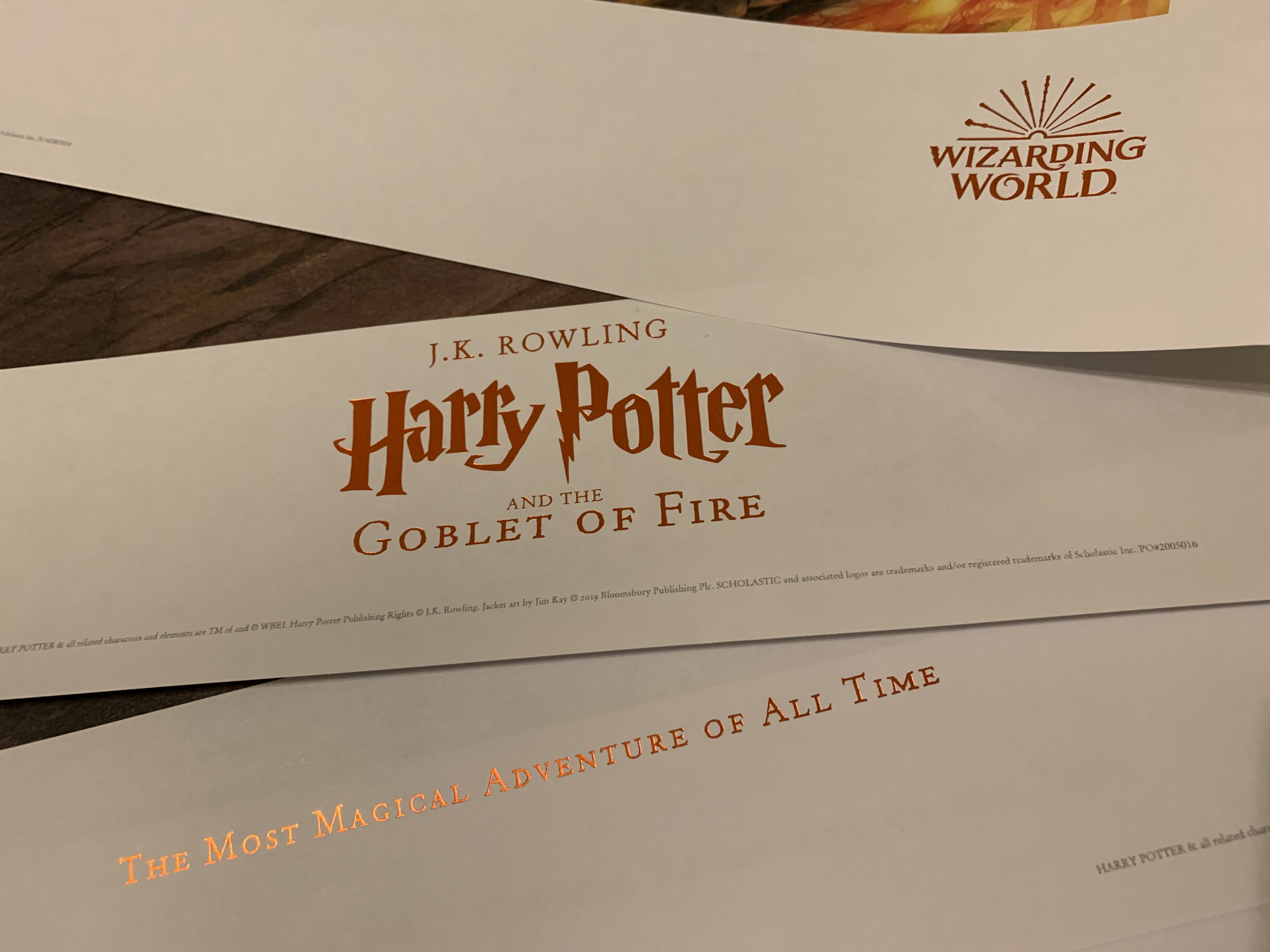 """""""Goblet of Fire"""" poster – footer title"""