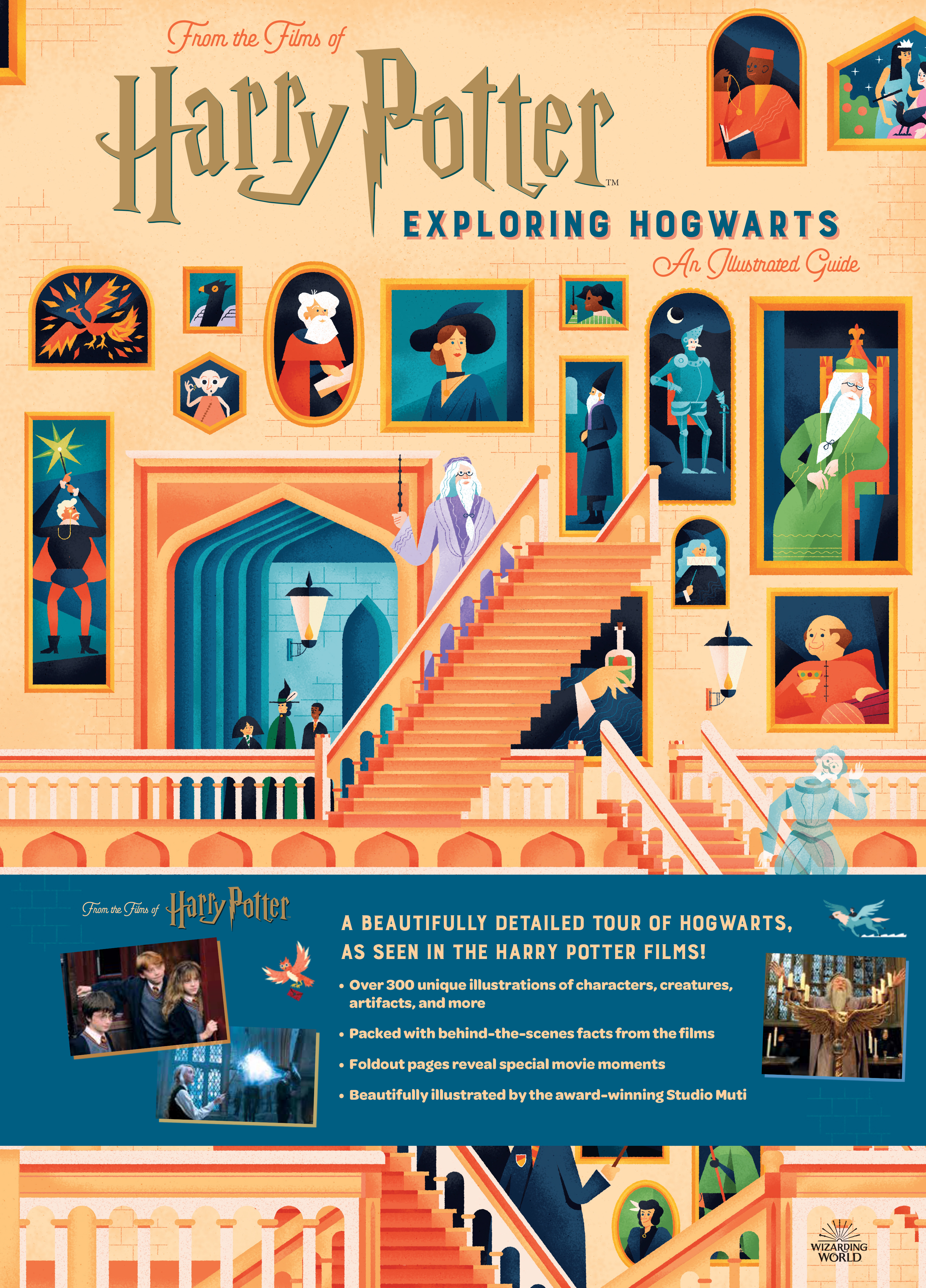 With this book, readers can do exactly as the title indicates – explore Hogwarts!