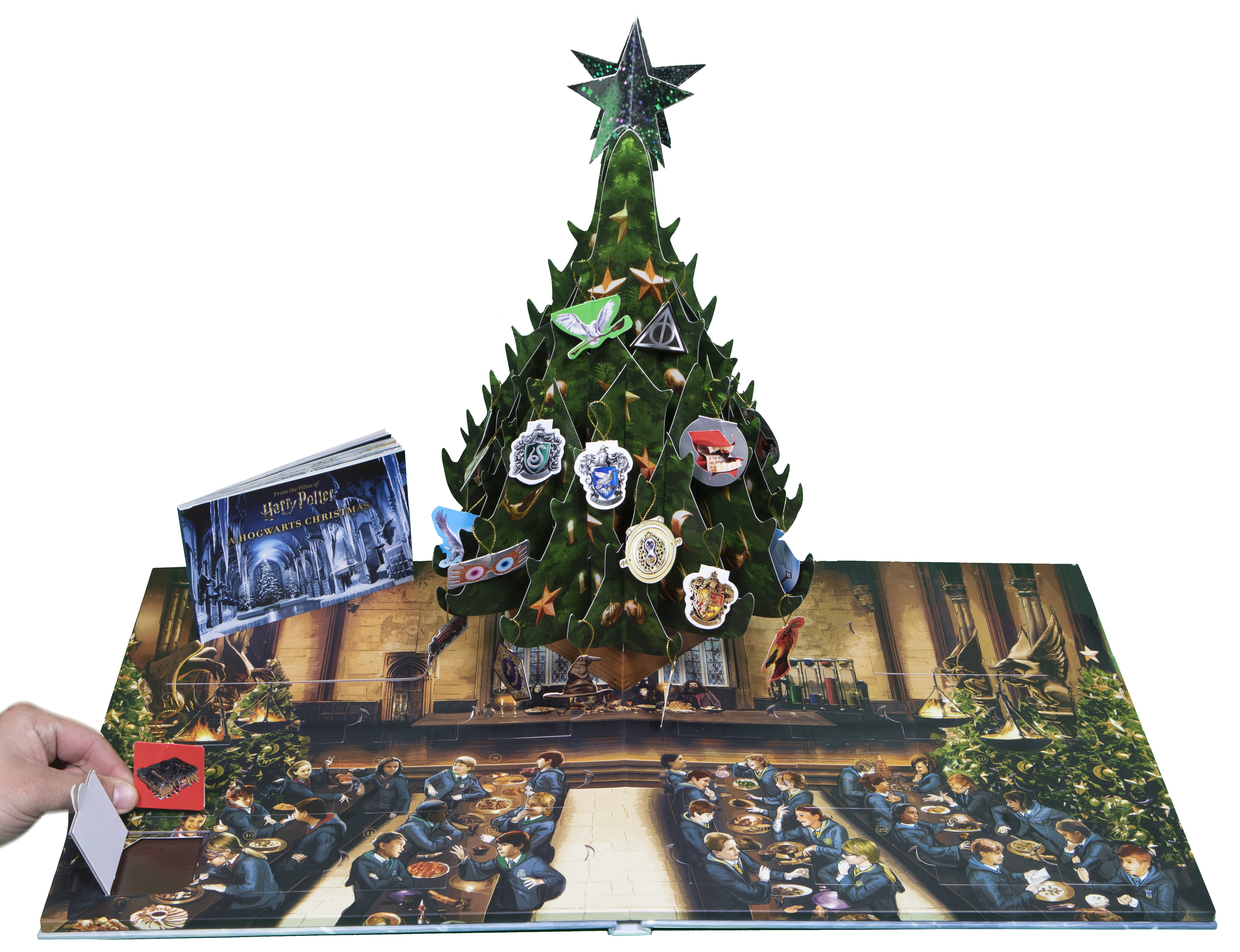 This festive pop-up book is full of removable keepsakes that can be displayed in the pop-up scene.