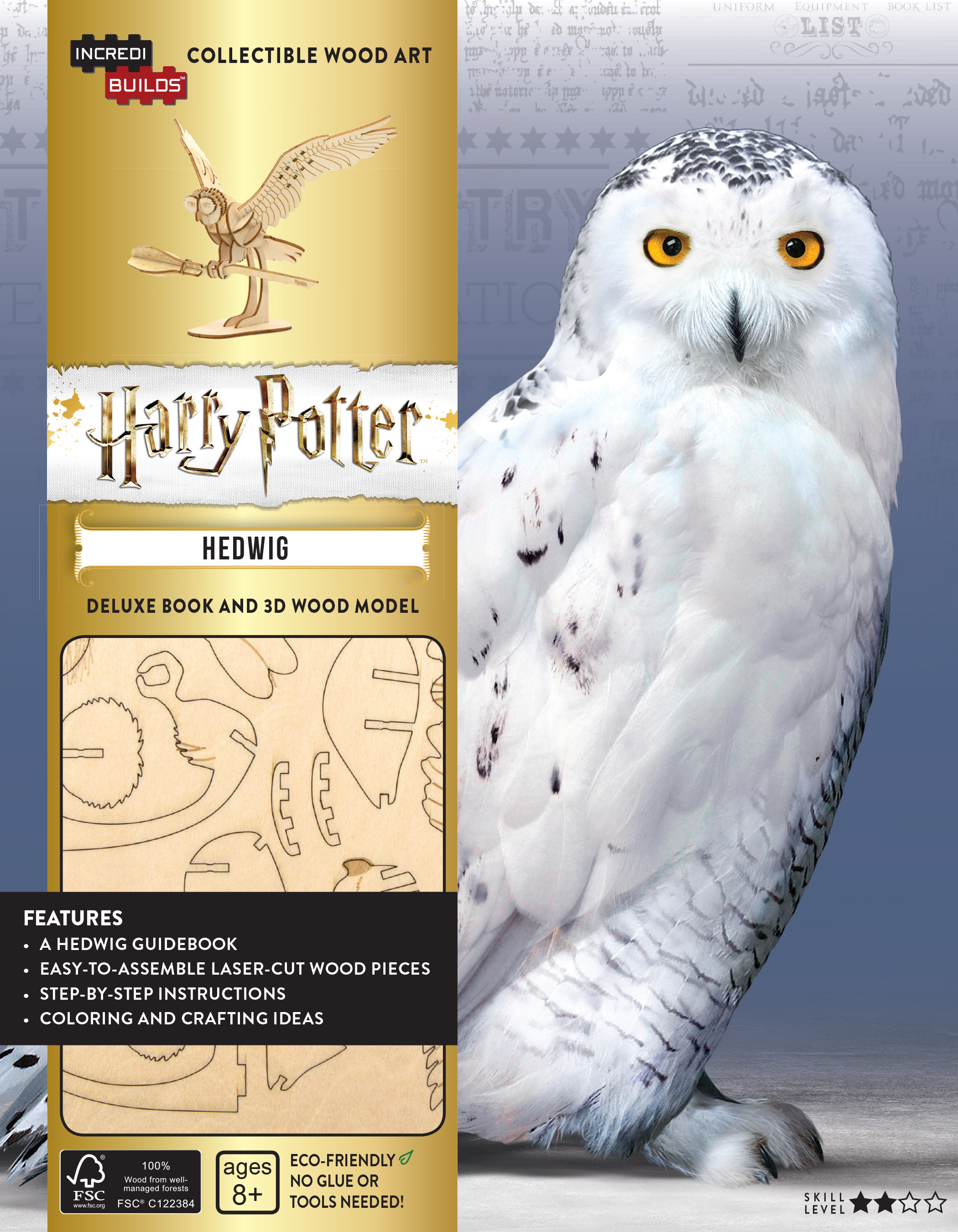You can build your very own Hedwig replica with this magical kit.