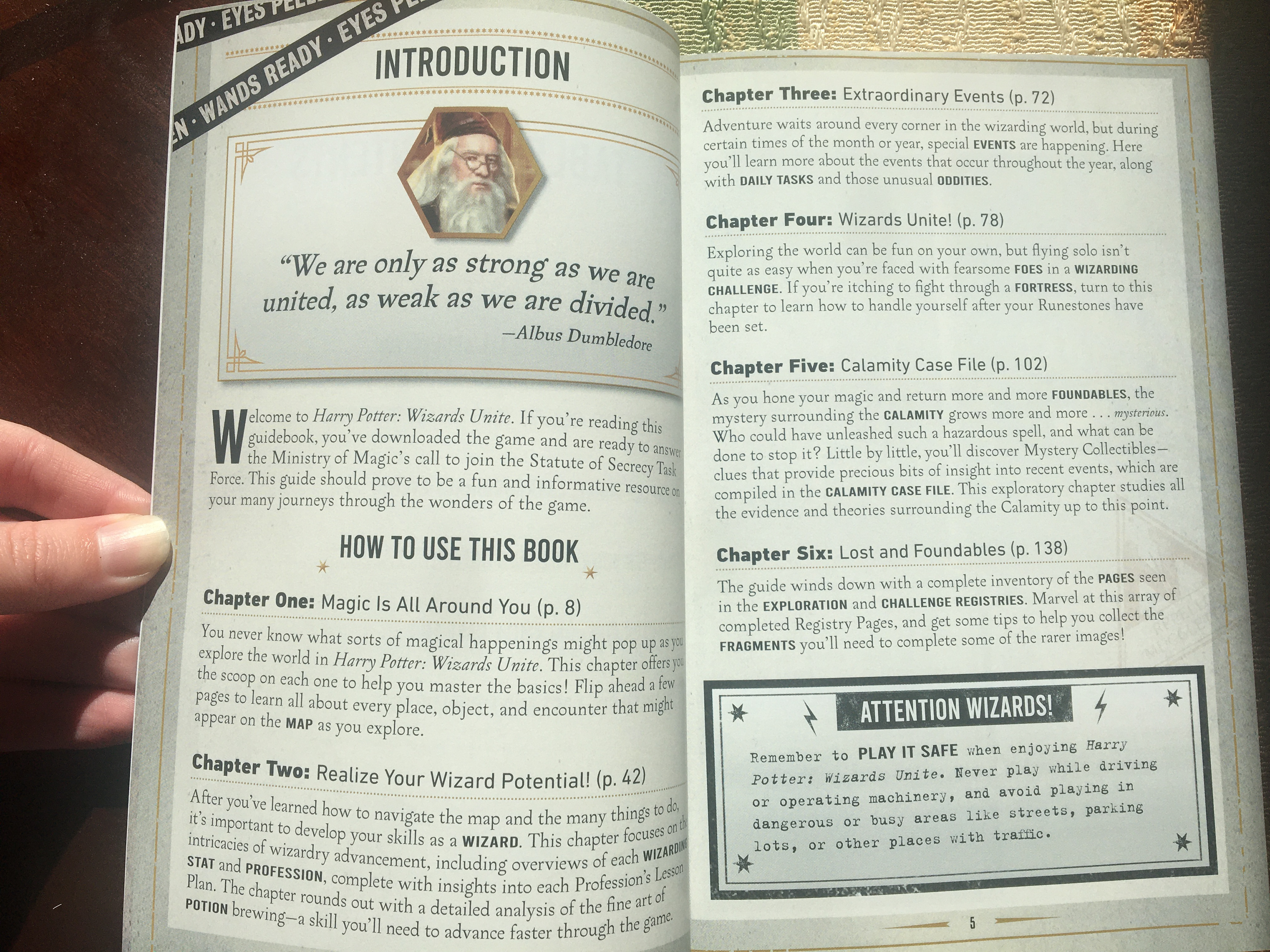 """Harry Potter: Wizards Unite: Official Game Guide"", introduction"