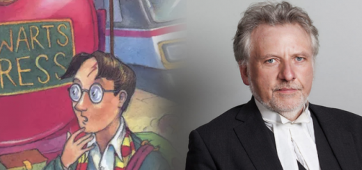 An image of the fictional Harry Potter is positioned beside a photo of Sir Harry Potter, a real-life lawyer.