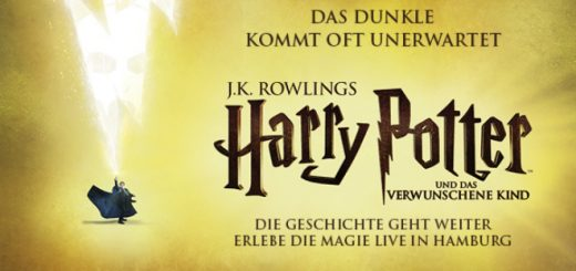 "A promotional image for ""Harry Potter and the Cursed Child"" in Hamburg, Germany"