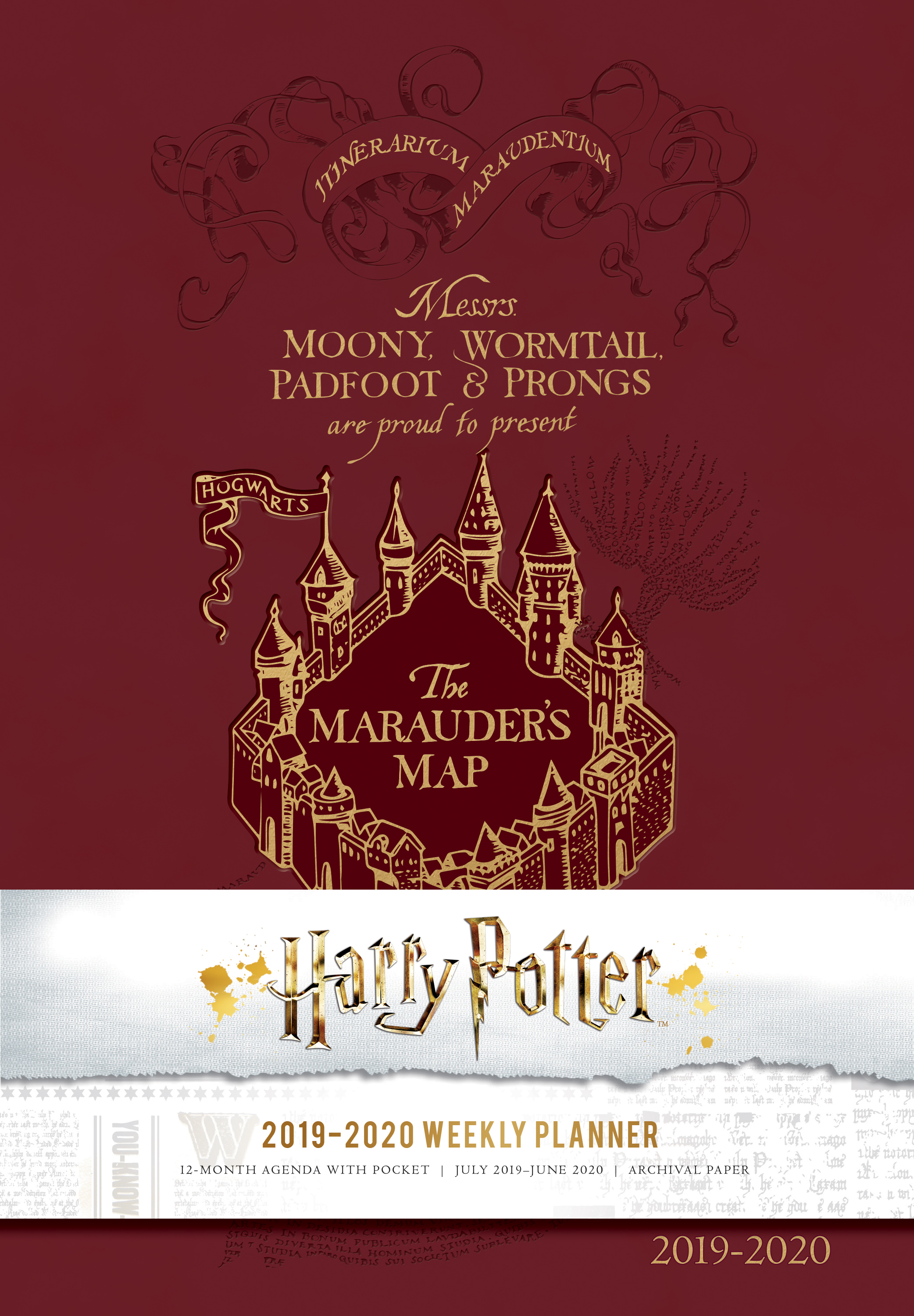 """Get organized this holiday season with a brand-new """"Harry Potter""""-themed weekly planner!"""