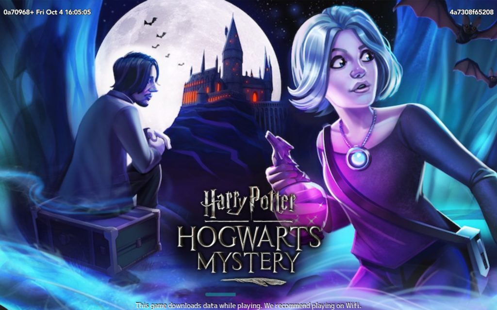 "The current loading screen for ""Harry Potter: Hogwarts Mystery"" features Remus Lupin and Chiara Lobosca."