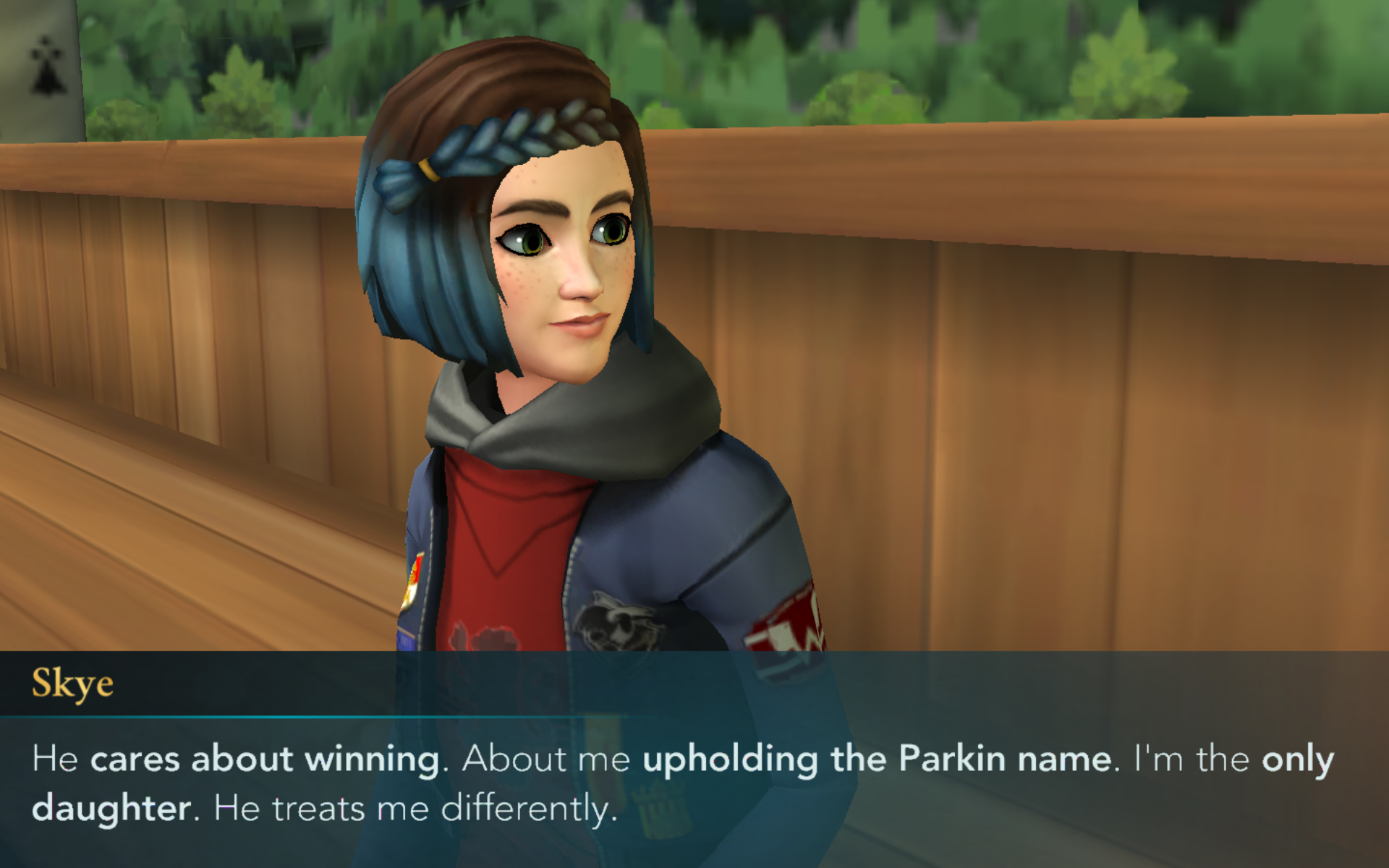 Skye Parkin is desperate to prove to her father that she's as capable of upholding the Parkin name as any boy.