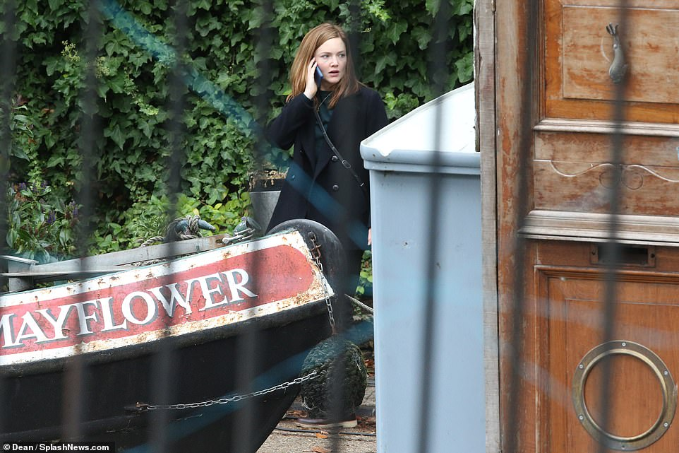 "Holliday Grainger as Robin Ellacott is seen shooting a kidnapping scene during filming for ""Lethal White"" in London."