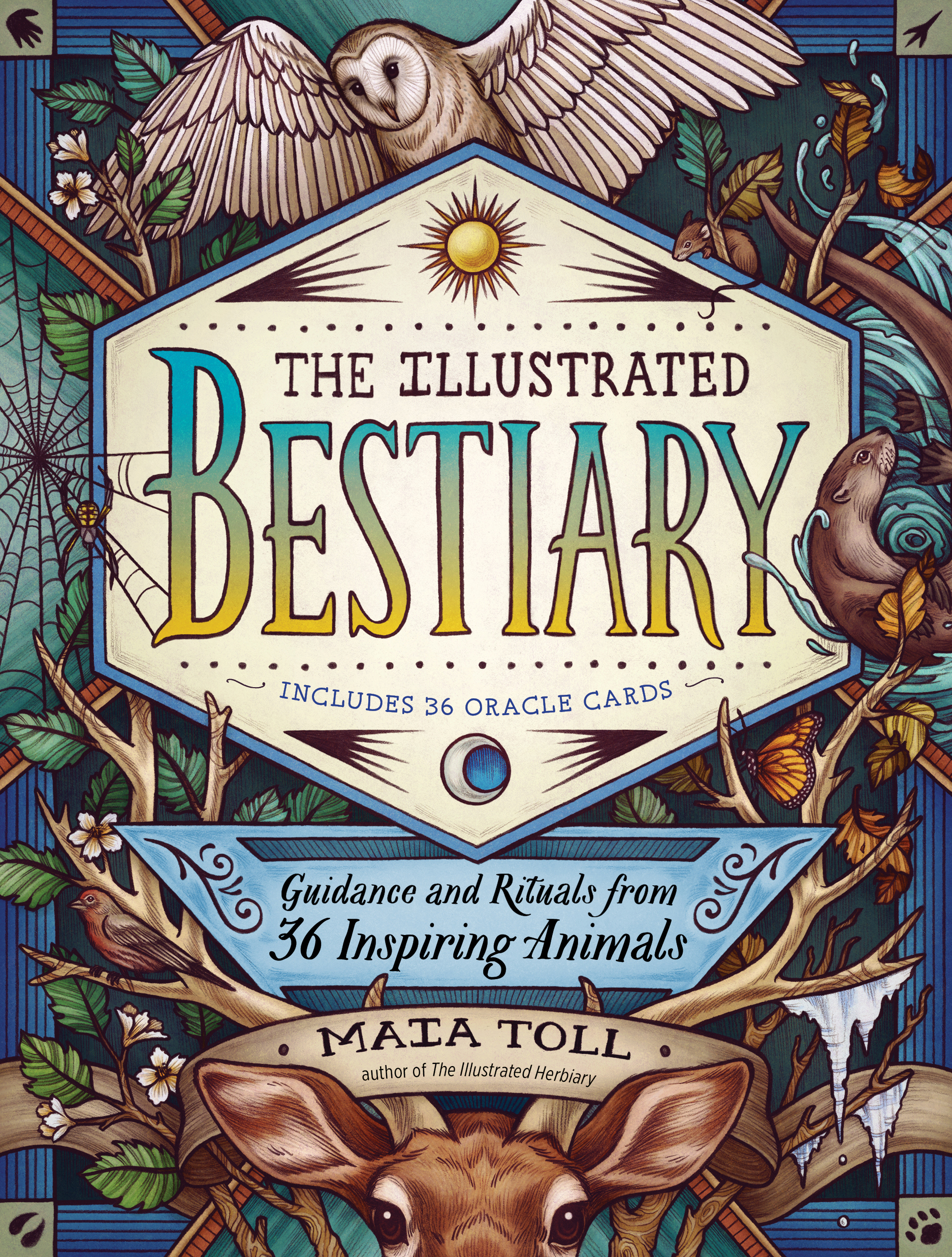 """""""The Illustrated Bestiary"""" cover"""