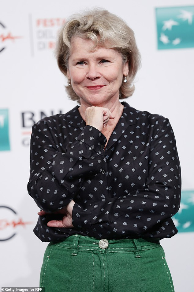 "Imelda Staunton at a ""Downton Abbey"" photocall in Rome."