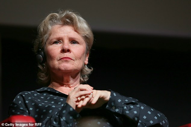Imelda Staunton listens to a question during a panel discussion in Rome.