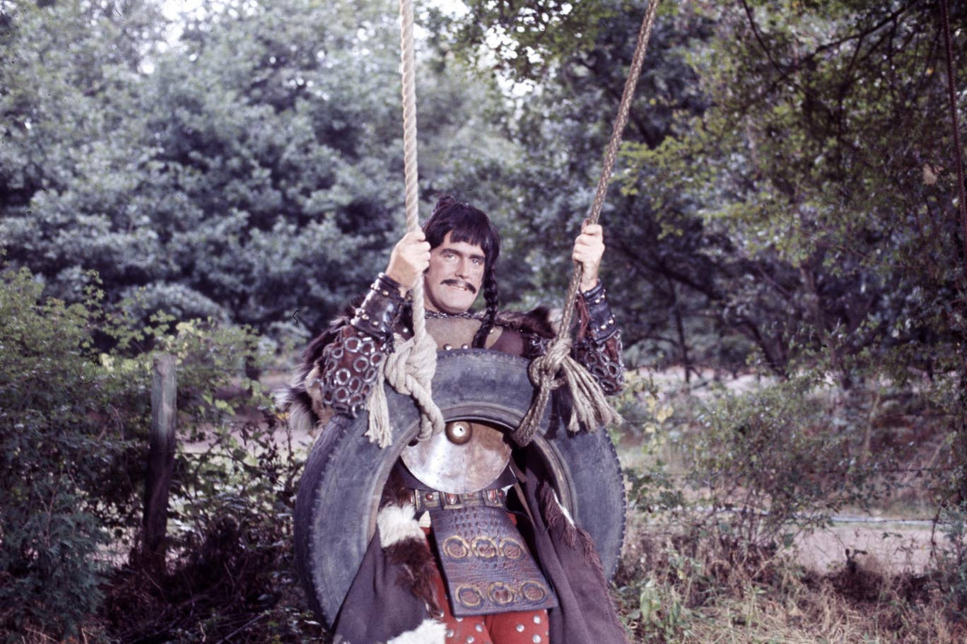 "John Cleese is pictured as Attila the Hun in a still from ""Monty Python's Flying Circus""."
