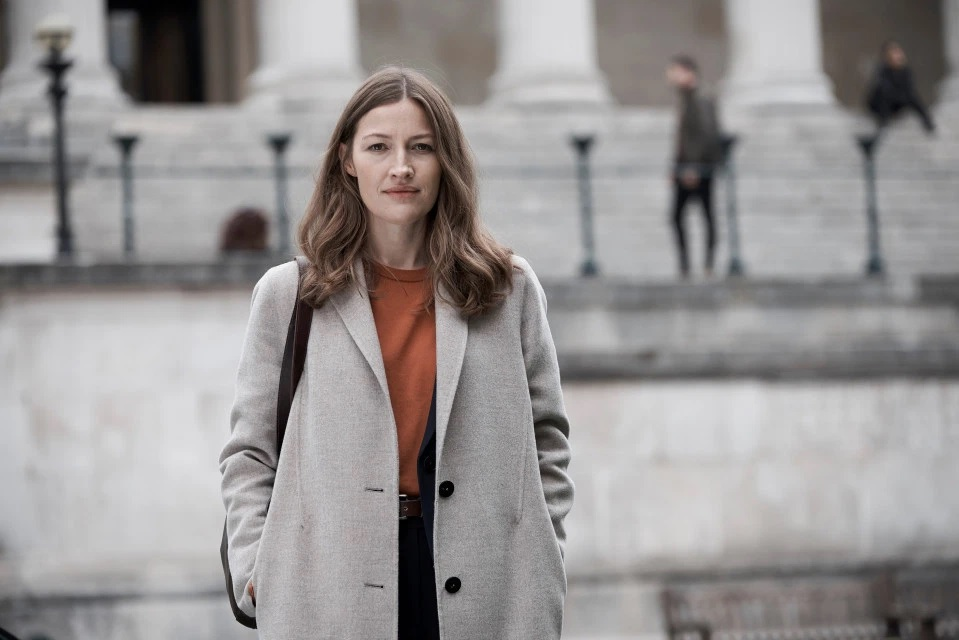"Kelly Macdonald is pictured in a still from her new series ""Giri/Haji""."