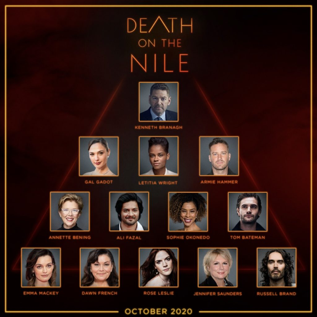 "Pictured are cast photos for Sir Kenneth Branagh's ""Death on the Nile""."