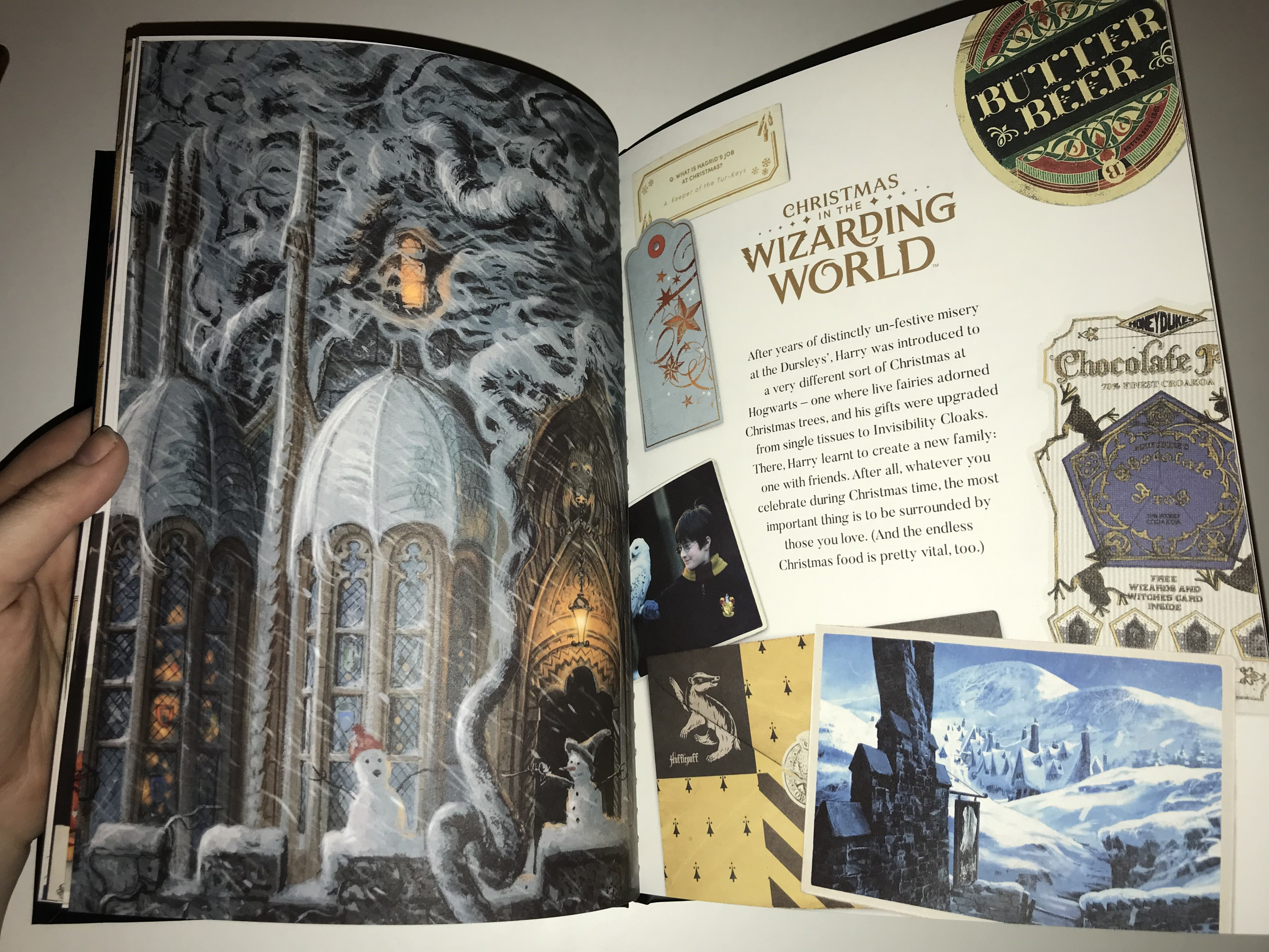 """The """"Christmas in the Wizarding World"""" spread is full of sweets, snowy Hogwarts scenes, and"""