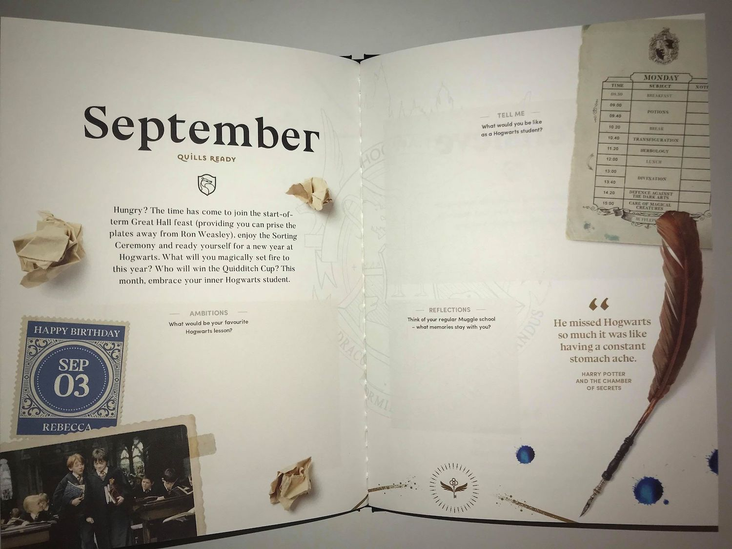 September's theme brings us back home to Hogwarts, inviting us to imagine what it would be like if we attended.