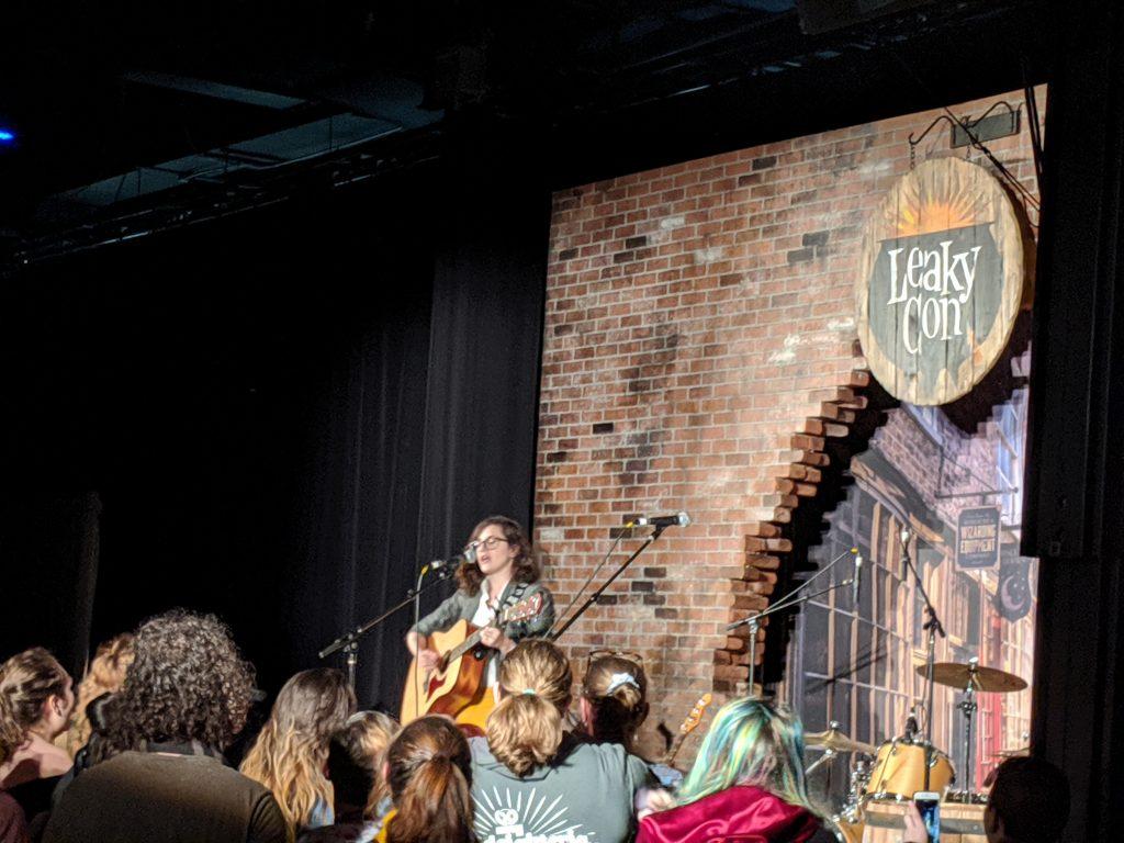 Lauren Fairweather performing at LeakyCon 10