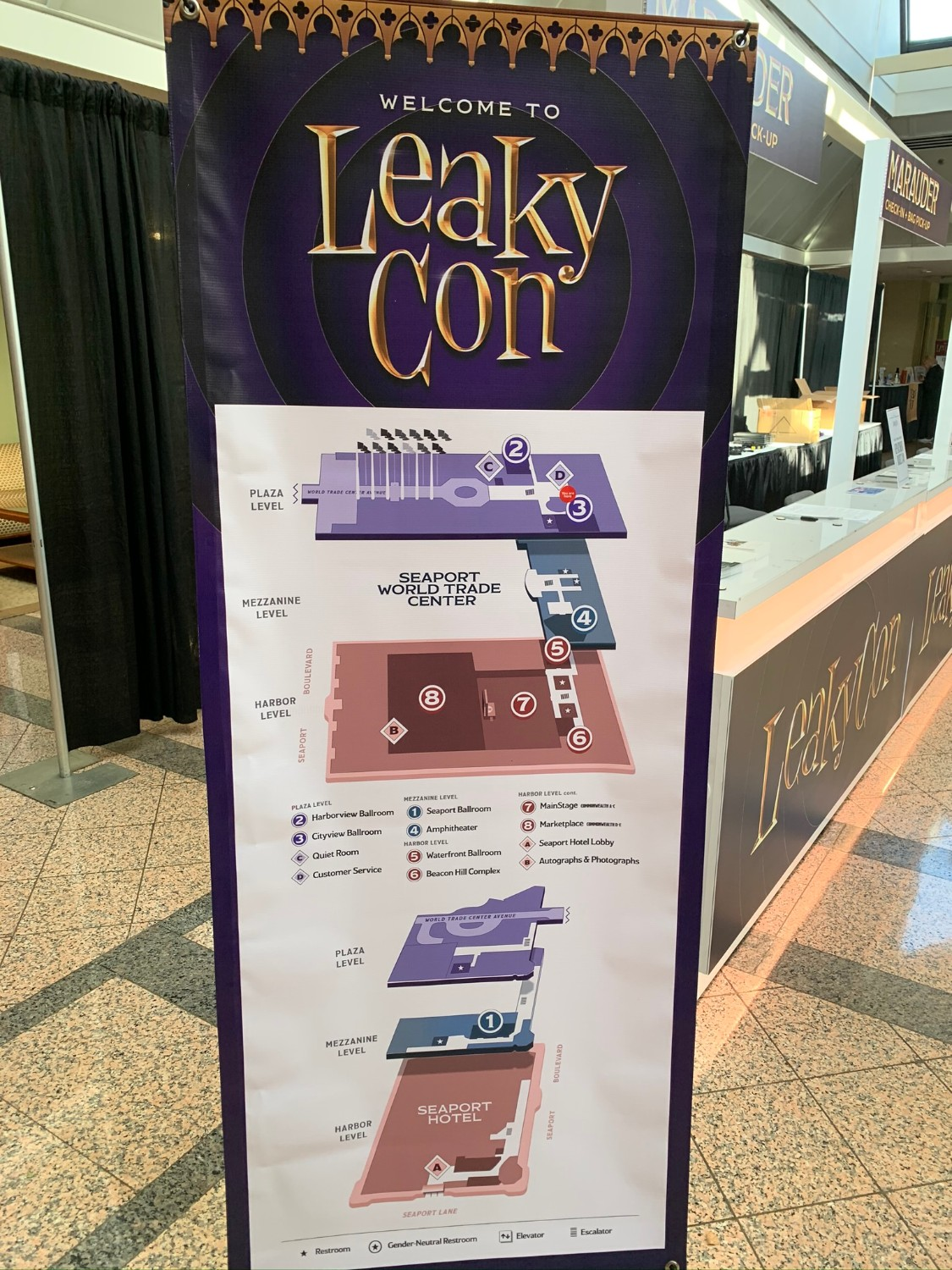 LeakyCon Boston event layout