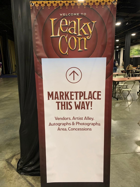 LeakyCon Boston Marketplace sign