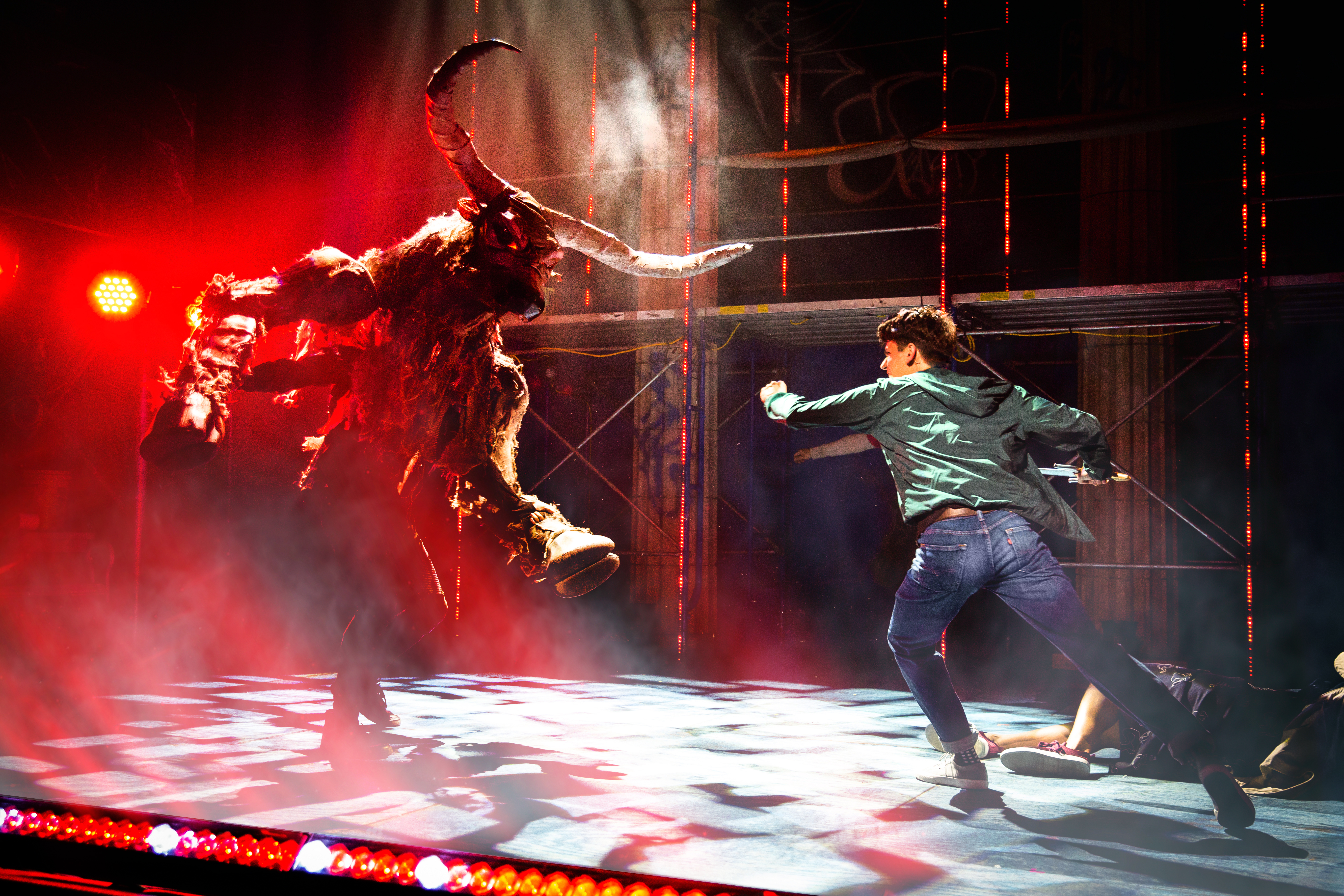 """The Lightning Thief: The Percy Jackson Musical"" battle scene"