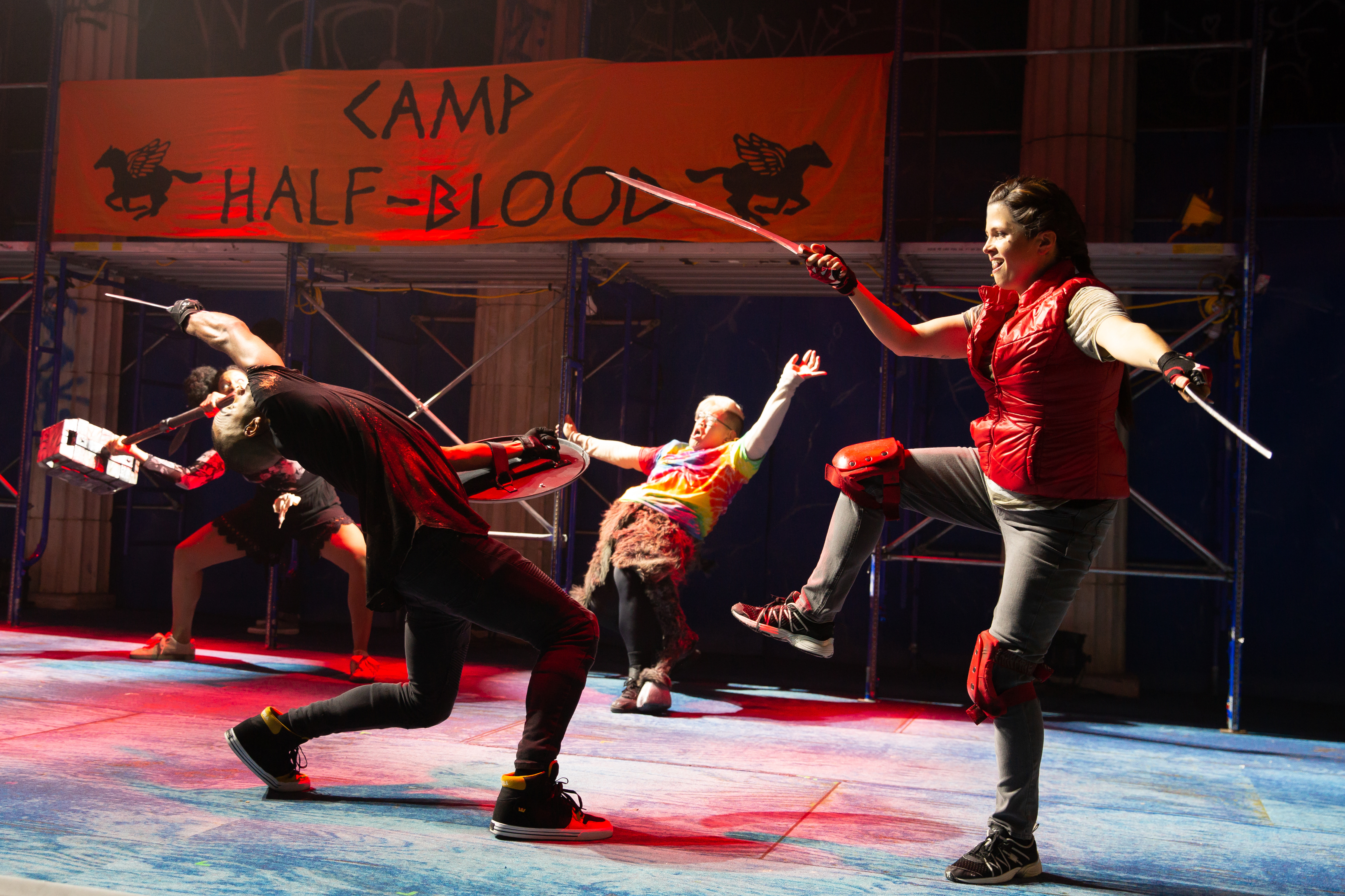 "Camp Half-Blood in ""The Lightning Thief: The Percy Jackson Musical"""