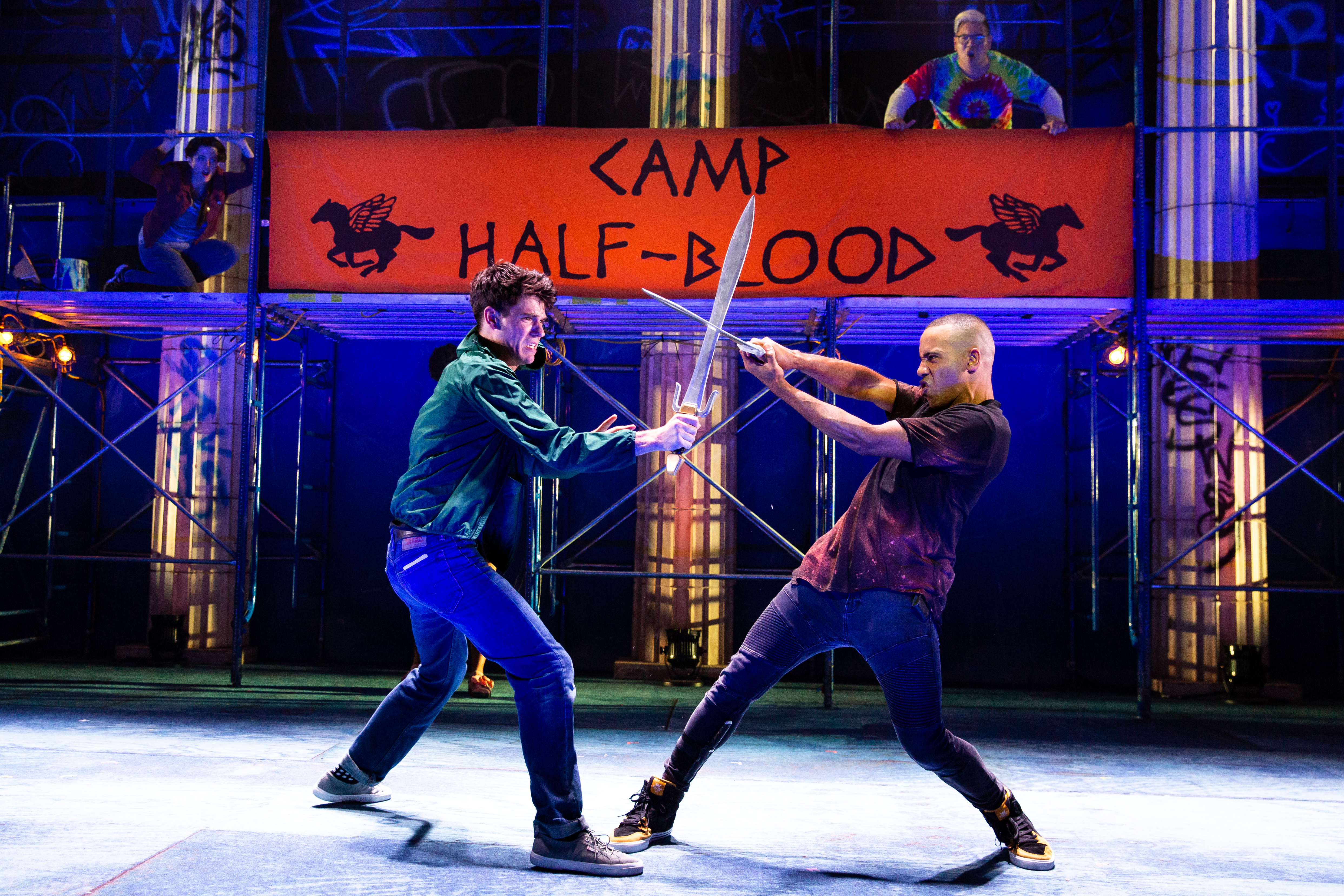 """The Lightning Thief: The Percy Jackson Musical"" fight scene"