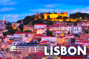 Lisbon, Portugal where a Harry Potter Exhibition was previously held is pictured.