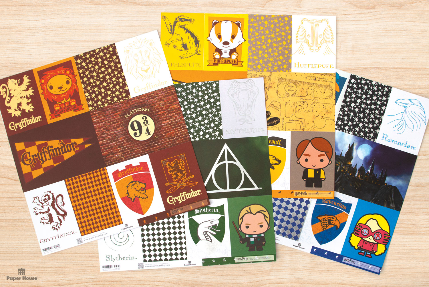 "Paper House Productions – ""Harry Potter"" House papers"