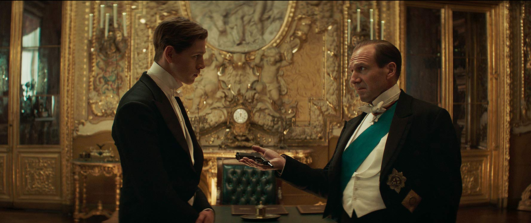 "Ralph Fiennes is seen as the Duke of Oxford in a still image from ""The King's Man""."