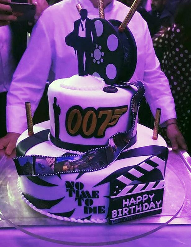 "A beautiful ""James Bond""–themed cake was enjoyed by the ""No Time to Die"" cast at their wrap party in Italy."