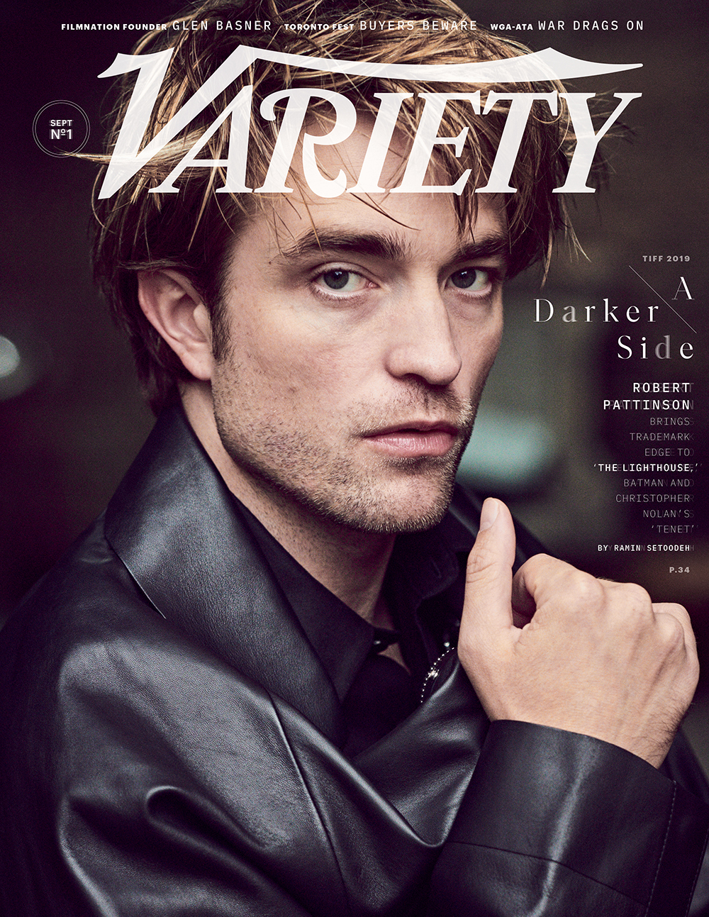 "Robert Pattinson is pictured on the cover of the September issue of ""Variety""."