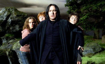 SNAPE PROTECTS HARRY, HERMIONE & RON