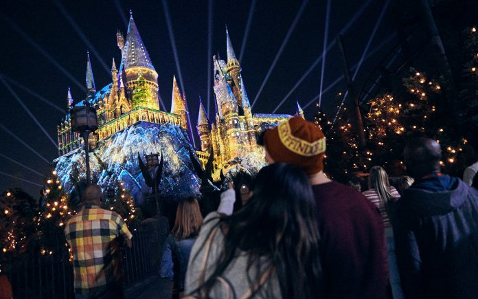 The Magic of Christmas at Hogwarts Castle at the Wizarding World of Harry Potter theme park