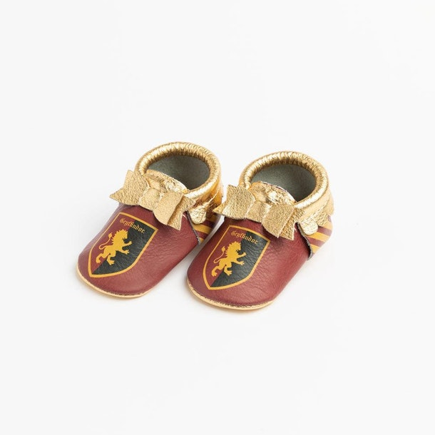 Show your Gryffindor pride with these adorable red-and-gold moccasins.