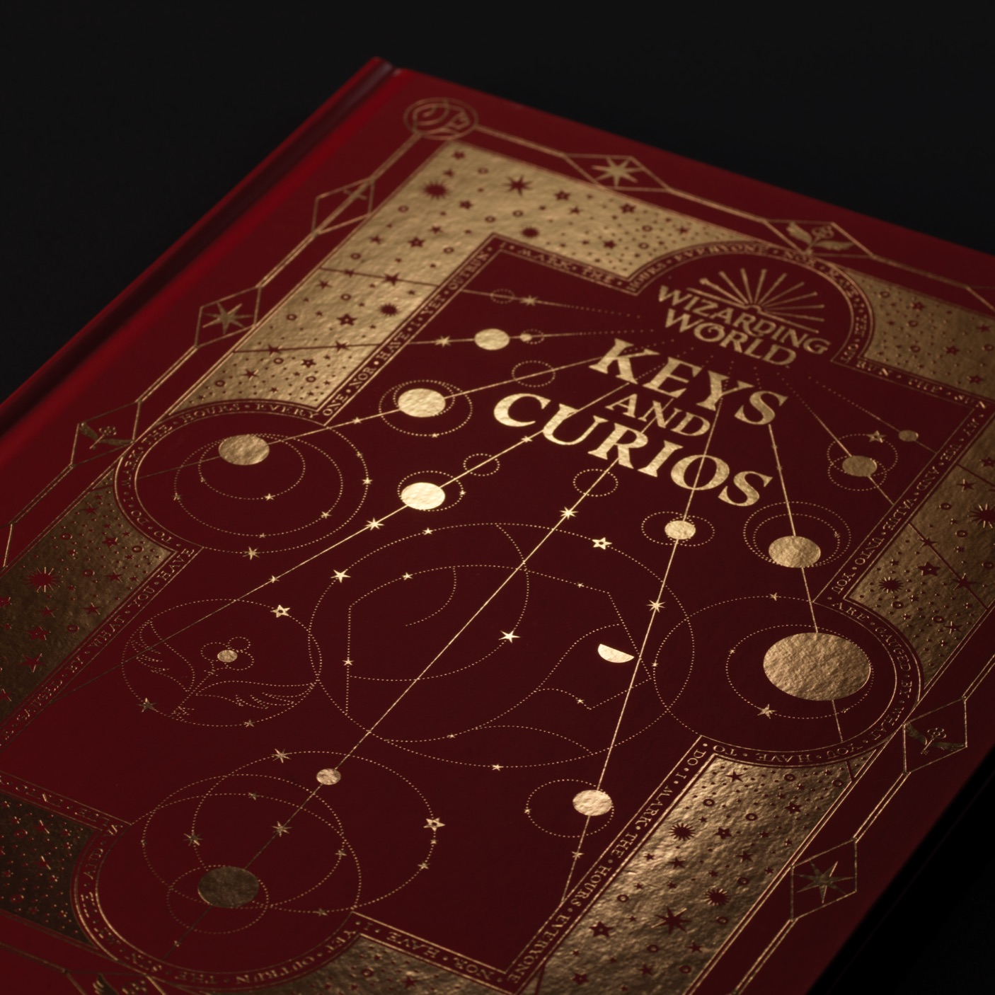 The Keys and Curios cover, designed by MinaLima