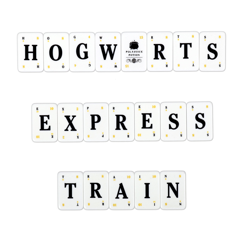 "Harry Potter Lexicon GO! tiles spelling ""HOGWARTS EXPRESS TRAIN"""