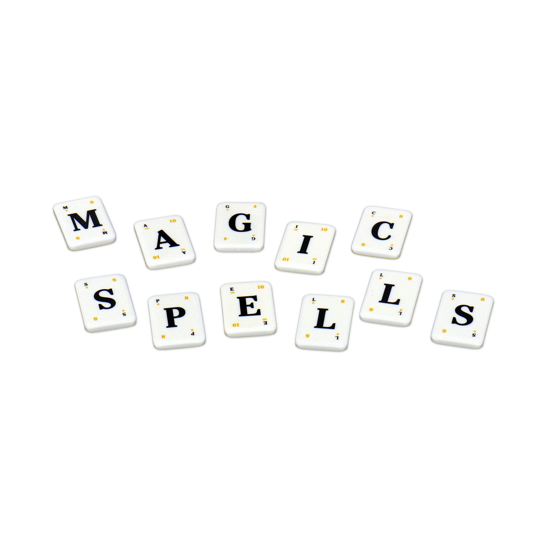 """Harry Potter Lexicon GO! tiles spelling """"MAGIC SPELLS"""""""