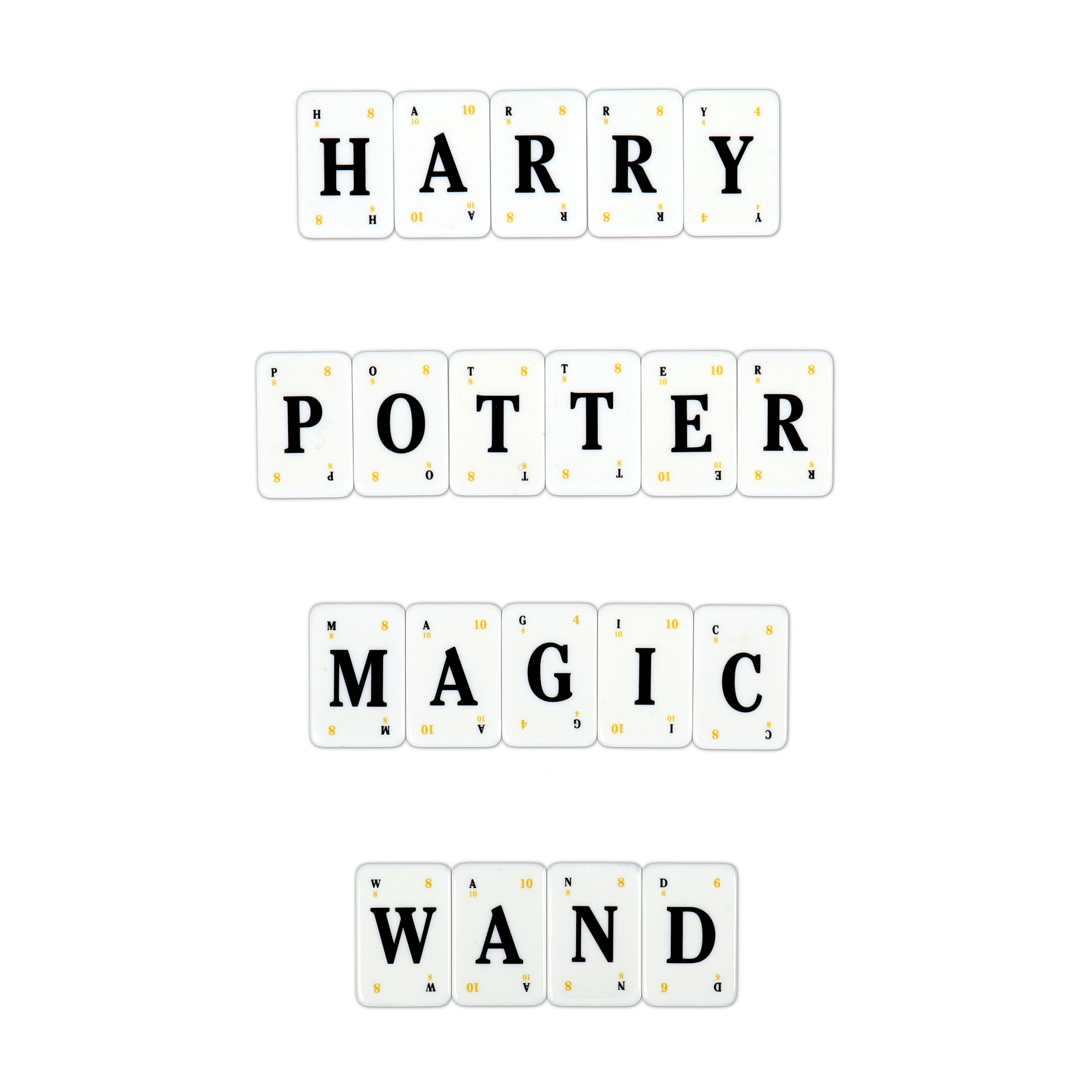 """Harry Potter Lexicon GO! tiles spelling """"HARRY POTTER MAGIC WAND"""""""