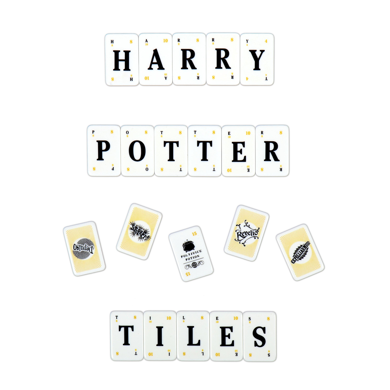 """Harry Potter Lexicon GO! tiles spelling """"HARRY POTTER TILES"""""""