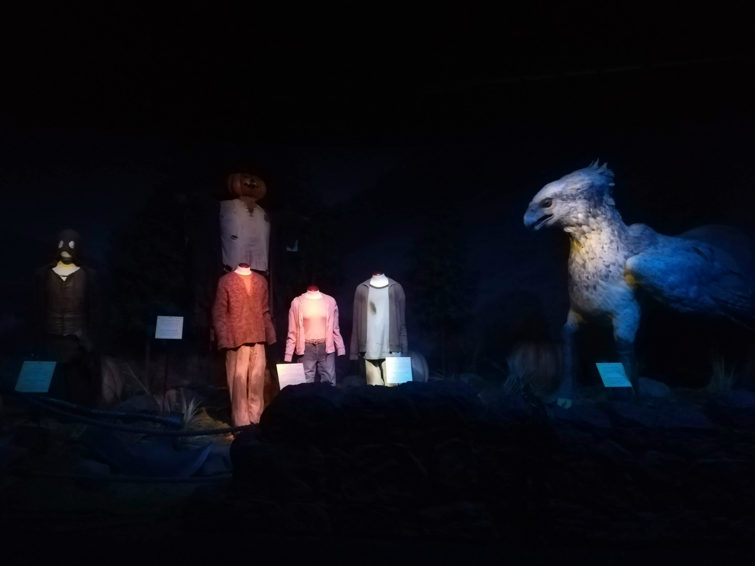 "Buckbeak appears in the Forbidden Forest at ""Harry Potter: The Exhibition"" in Lisbon."