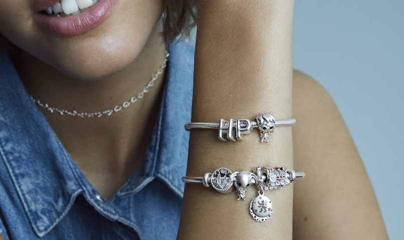 The iconic symbols and characters can be found in the new Harry Potter X Pandora collection.