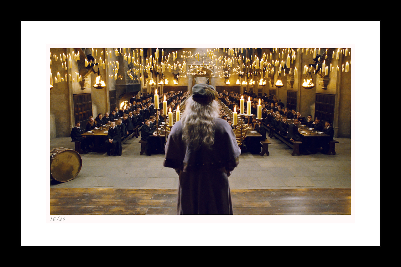 "Classic Stills ""Dumbledore Addresses the Great Hall"""