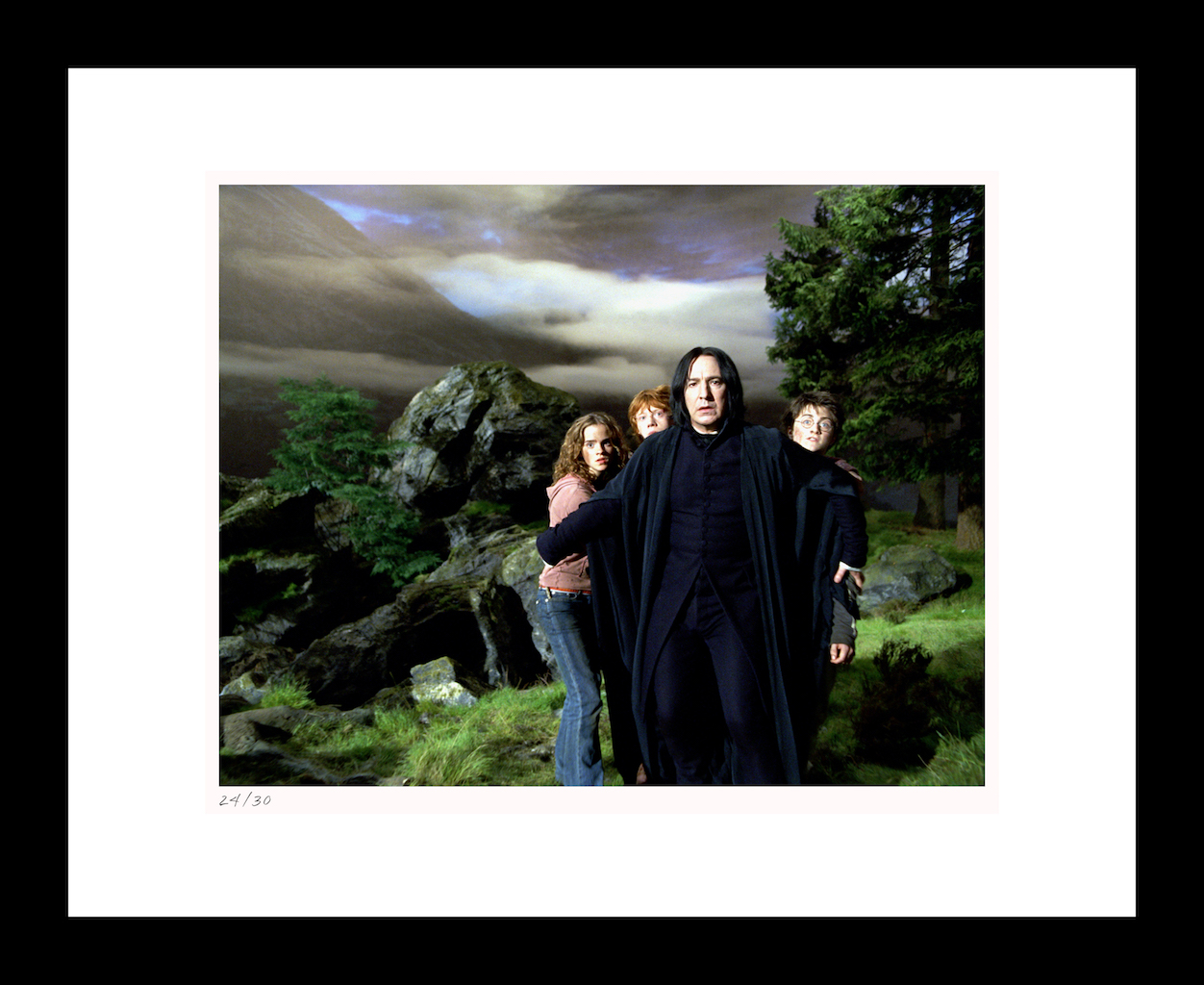 "Classic Stills ""Snape Protects Harry, Hermione & Ron"""