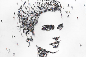 Emma Watson's likeness is pictured in a portrait by Craig Alan, as commissioned by Avon.