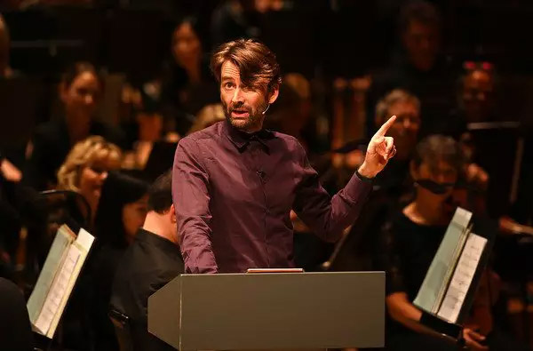 """David Tennant points out that he's awesome during a reading from """"Good Omens""""."""