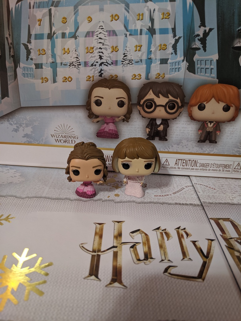"Eight3Five Advent calendar with ""Goblet of Fire"" figurines"