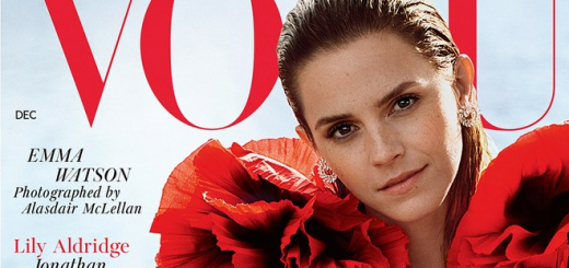 "Emma Watson covers British ""Vogue"" for its December 2019 issue."