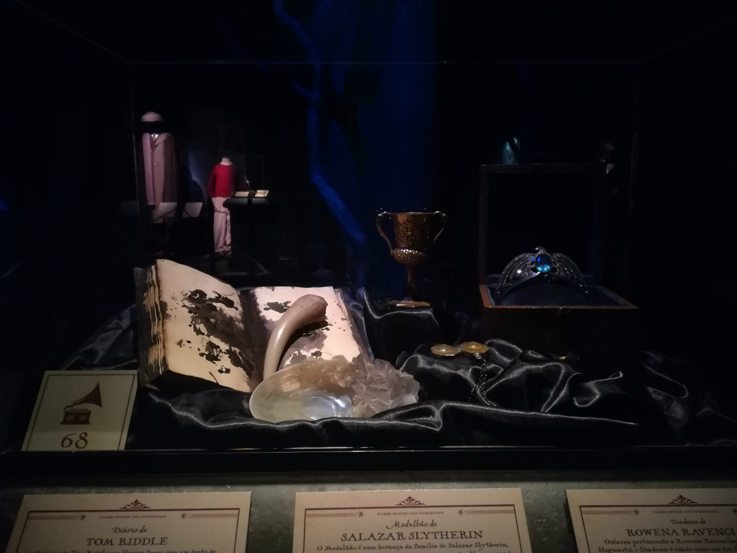 "You can view Voldemort's five inanimate Horcruxes at ""Harry Potter: The Exhibition"" in Lisbon."