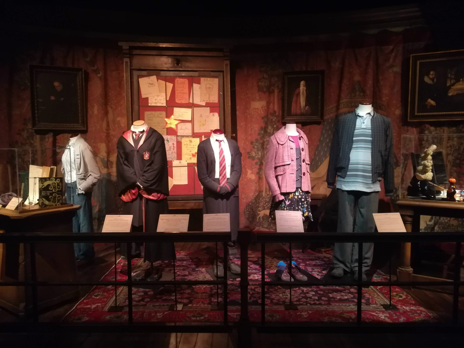 "Here's another look at some of the costumes you'll find on display at ""Harry Potter: The Exhibition"" in Lisbon."