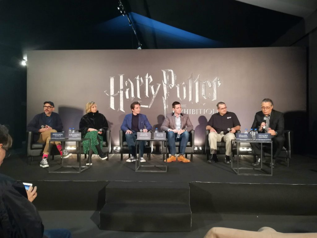 Harry Potter The Exhibition Lisbon Press Conference with James and Oliver Phelps and MinaLima